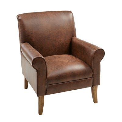 Laila Brown Faux Leather Chair Pier 1 Faux Leather Chair Brown Leather Chairs Leather Chair