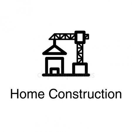 Home Construction Crane Vector Design Stock Vector Ad Crane
