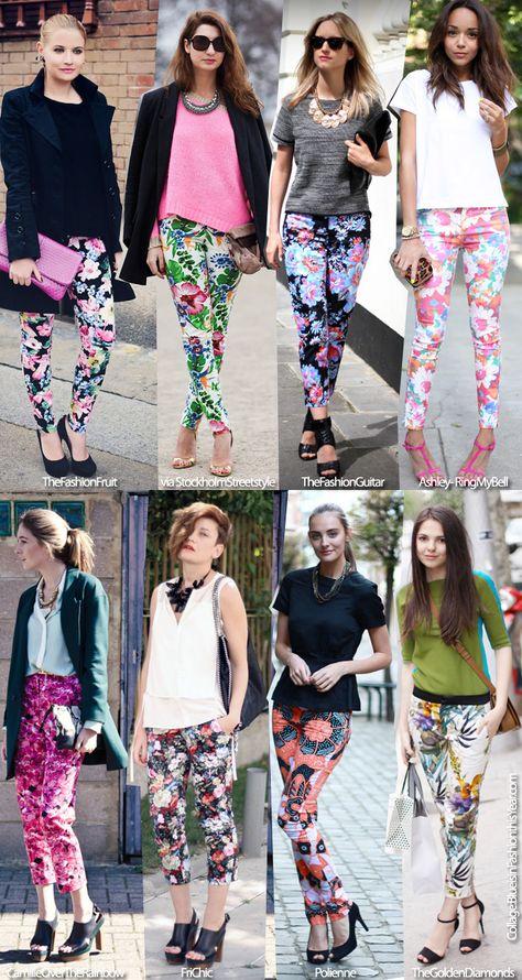 Inspiration for my Zebra flower pants
