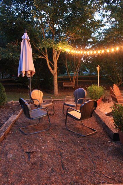 Best Backyard Ideas Images On Pinterest Patio Ideas Back - Mulch patio ideas