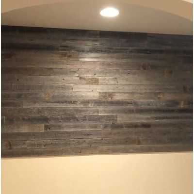 Rockin Wood 3 5 X 12 Solid Wood Wall Paneling In Gray Wayfair Wood Panel Walls Vinyl Wall Panels Wall Paneling