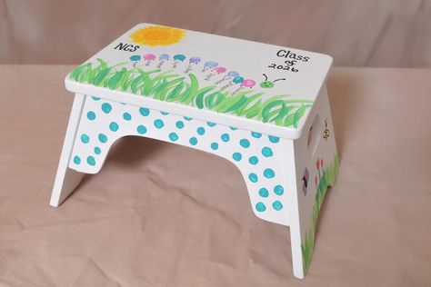Place a bid on Step Stool - Student Artwork to help support the North Cross School fundraising auction.