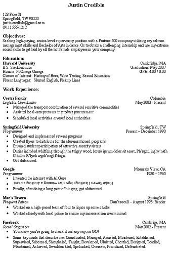 Resume Tip Objective Section Dorothy Sliwicki Resume Tips