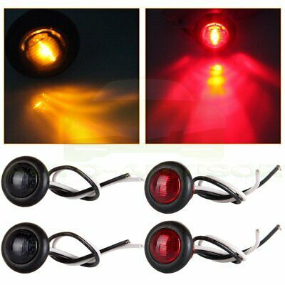 Sponsored Ebay 4x Round 1 Led Clearance Car Front Rear Side Marker Indicators Light 12v In 2020 Indicator Lights Car Front Red Led Lights