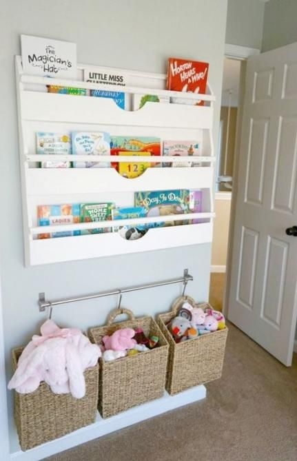 New Children Book Storage Ideas Shelving Units Ideas Toddler Room Organization Small Kids Room Baby Room Diy
