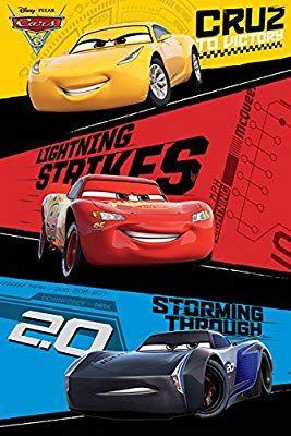 Cars 3 Pixar Disney Movie Poster Print Trio Lightning Mcqueen Jackson Storm Cruz Ramirez By Poster Stop O Cars Movie Disney Cars Disney Pixar Cars