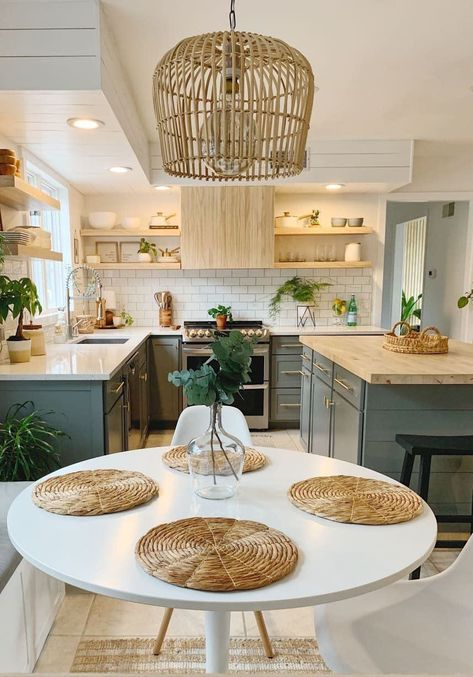 Suberb Before and After: Just $2,000 Turns This '90s Kitchen into a Scandi-Boho Dream