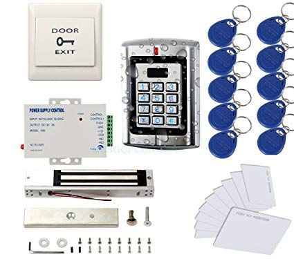 Metal Weatherproof Access Control System Only For 125khz Hid Card 600lbs Force Electric Magnetic Lock 110 Access Control System Access Control Magnetic Lock
