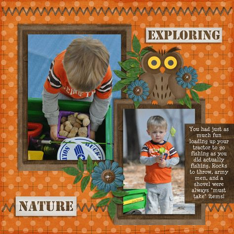 Camping - Scrapbook.com - Page 2 of 2 of this very cool layout. #digital #scrapbooking