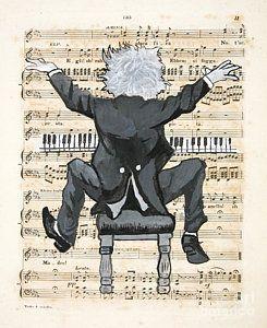 The Happy Pianist Art Print by Paul Helm