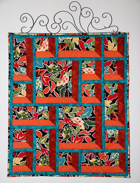 Attic Windows wall hanging at Cookie's Creek; design from Susan Cleveland's book 'Marvelous Miters'.