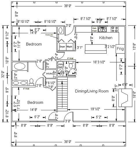 32 X 40 Floor Plan Consider For Arched Cabin Floor Plan Layout Arched Cabin Cabin Floor Plans