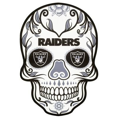 Applied Icon NFL Oakland Raiders Outdoor Skull Graphic- Large, Black