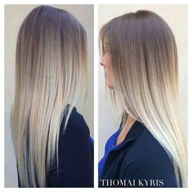 Blonde haare zu ombre hair