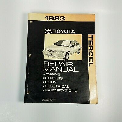 Repair Manual Manual Is Used And Shows Wear Electrical Specifications Toyota Tercel Repair Manuals Auto Repair Shop