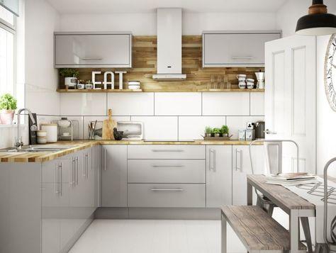 Orlando Grey Gloss kitchen Wickesuk NEW Kitchen Cabinet - alno küchen werksverkauf
