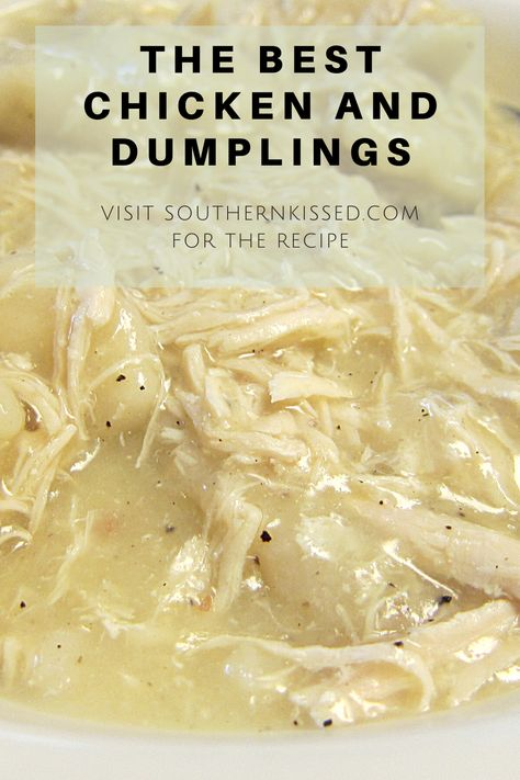 Easy Chicken Recipes, Crockpot Recipes, Cooker Recipes, Great Recipes, Favorite Recipes, Chicken And Dumplin Recipe, Homemade Chicken And Dumplings, Easy Chicken And Dumplins, Biscuit Chicken And Dumplings