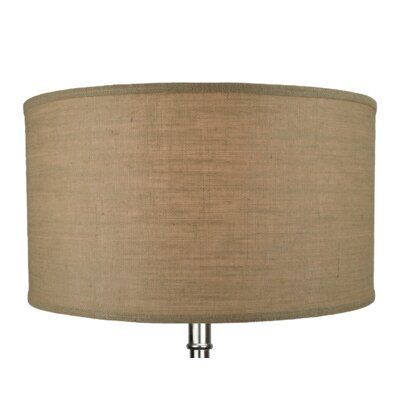 Darby Home Co Burlap 22 Linen Drum Lamp Shade Color Drum Lampshade Lamp Shade Rectangular Lamp Shades