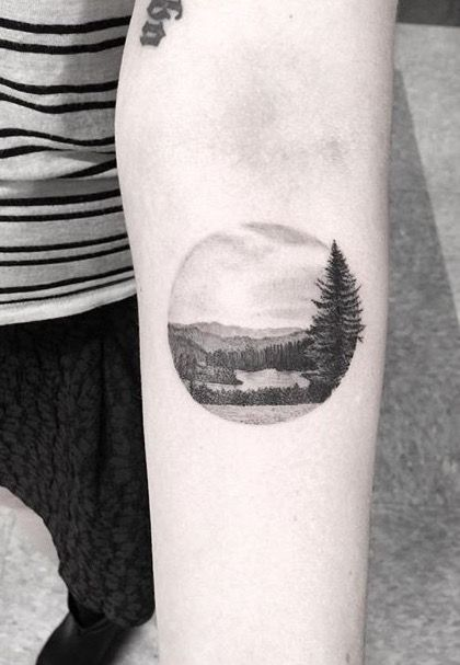 by Dr woo  tattoo / landscape