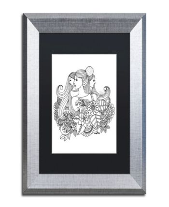 Kcdoodleart Flower Girls 16 Matted Framed Art 2 X 19 X 12 Open Misce Trademark Art Trademark Fine Art Framed Art