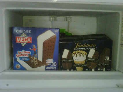 A viewer shared this freezer pic via Twitter