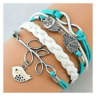Vintage Infinity Leather Bracelet Love Elephant Women Fashion Jewelry Gifts