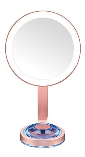 Conair Single Sided Lighted Makeup Mirror With Led Lights 1x