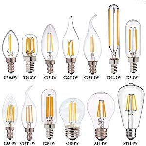 Light Bulb Screw Led Light Clear Light Series Warm White 2700k