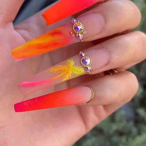 #Nailsdesign#Nailart#nails2020#nails2020trends#summernails#acrylicnails#summeracrylicnails#longacrylicnails#naildesigns#summernails#nailideas#nails