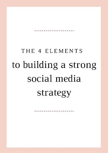 The 4 Elements To Building A Strong Social Media Strategy In 2020 Marketing Strategy Social Media Social Media Strategies Social Media Advice