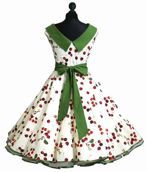 *Kleid der 50er* <p> <p> Welches Kleidungsstück ist wohl typischer für die 50er Jahre Mode als das Petticoatkleid! <p> Eine stilbewusste Rockabella trägt ihren Rock oder ihr Kleid...