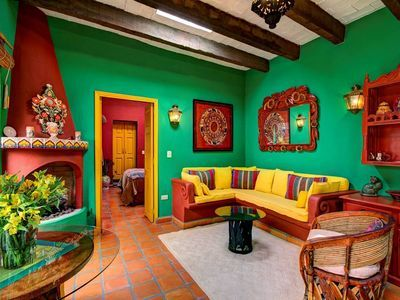 Casa Mandu Colourful One Bedroom Casita In Historic Centre Mexican Living Rooms Discount Bedroom Furniture Home Decor Bedroom
