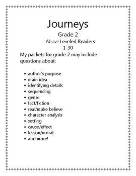 Journeys Grade 2 Above Leveled Readers | Reading/Phonics/PA