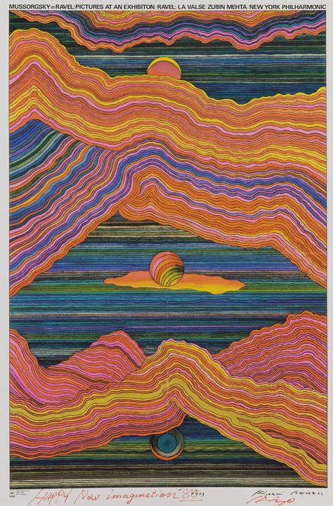 Graphic Designer Awazu Kiyoshi's Fantastical World art painting tik tok artist drawing tiktok Art Inspo, Kunst Inspo, Inspiration Art, Psychedelic Art, Art Hippie, Pictures At An Exhibition, Japon Illustration, Digital Illustration, Wow Art
