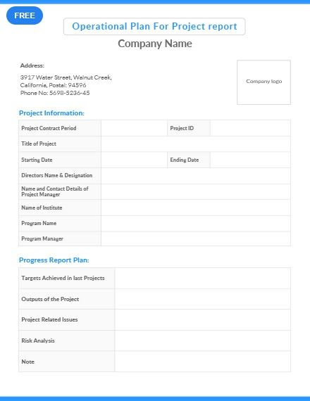 Free Task Force Operation Plan How To Plan Templates Task