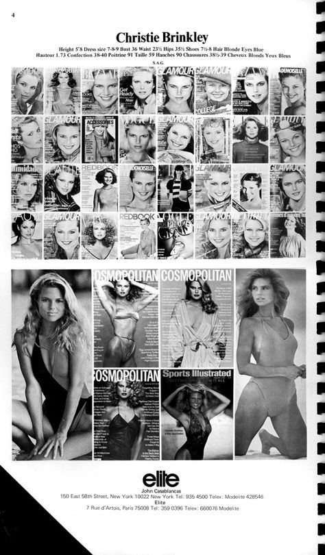 Christie Brinkley's resume in 1980.. sooo have you modeled before sweetheart? Covergirl for 40 years now..