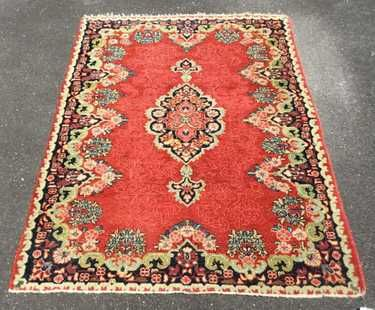 Antique Persian Kerman Area Rug 1st Quarter 20th Aug 31 2018 A Ok Auction Gallery Llc In Va Rugs Area Rugs Kerman