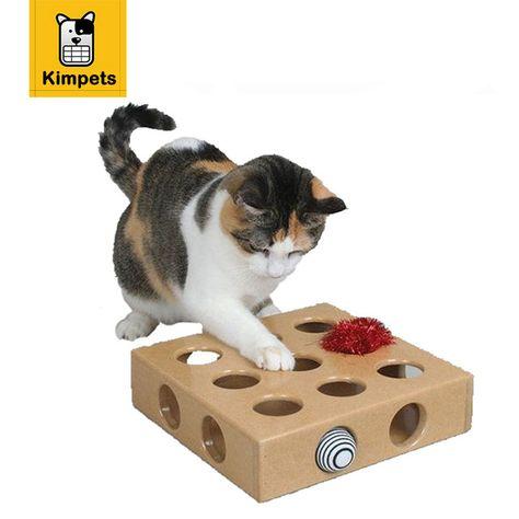 Dobola Gato Juguete Peek Play Toy Box Gatos Hide Seek Caja