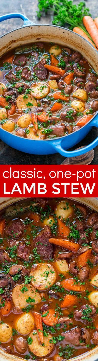 Classic lamb stew is loaded with hearty, healthy ingredients. This lamb stew recipe is simple (a one-pot meal!) and perfect for special occasions (think Easter!). Baking the stew in the oven makes the tender lamb morsels and root vegetables just melt in y