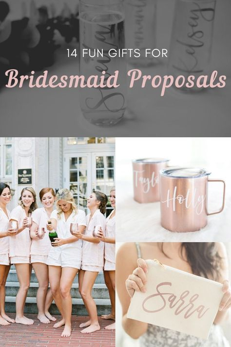 Check out our favorite bridesmaid gifts that your wedding party will actually love AND use time and time again after the wedding! #bridesmaidgift #willyoubemybridesmaid #bachelorette #makeupbag #cosmeticbag