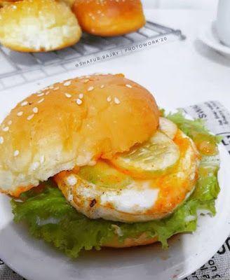 Burger Isi Telur Resep Burger Roti Burger Resep