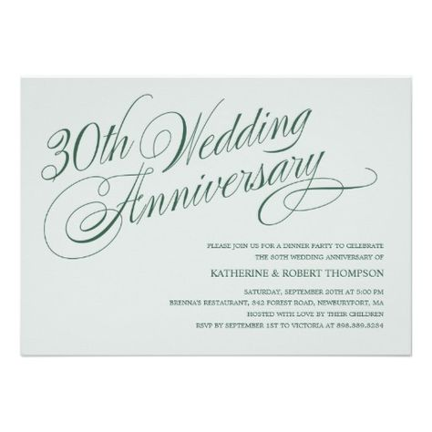 pearl 30th wedding anniversary invitations wedding ideas