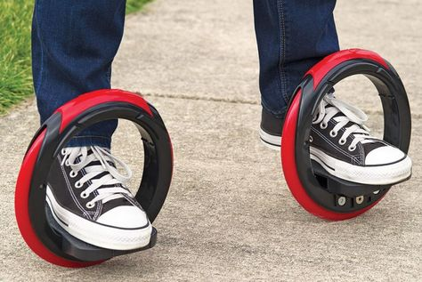 A 'Post Modern Skateboard' That Ditches The Board C-Smart Solutions: As we ditch cars to get around, new technology can making going car-free even cooler! The Sidewinding Circular Skates are a modern hybrid of skates and skateboard.