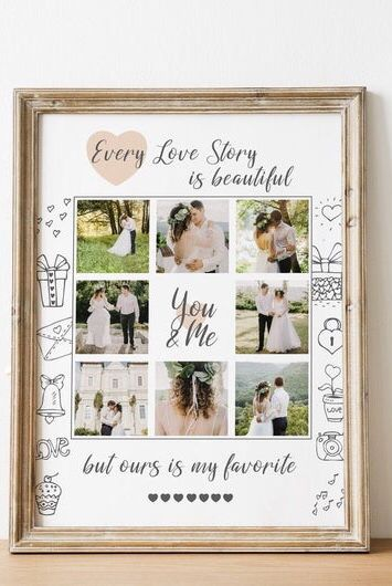 Photo Collage Gift 3rd Anniversary Gift Photo Gifts One Etsy Photo Collage Gift Anniversary Gifts Diy Anniversary Gift