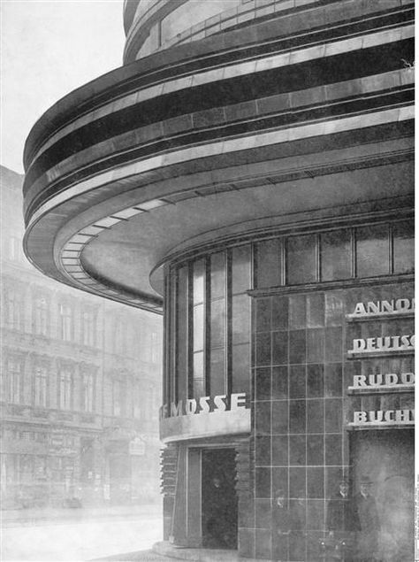façade, Berlin - transformed in by Erich Mendelsohn / Berlin, Kunstbibliothek (SMPK)