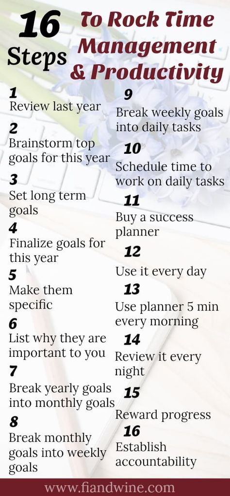18 Steps to Improve Your Time Management and Productivity Skills