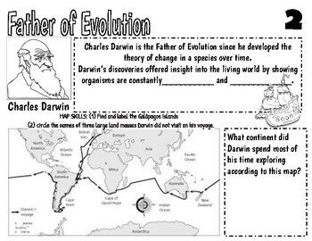 Introduction To Evolution Doodle Notes And Answers Evolution Doodle Notes Theory Of Evolution