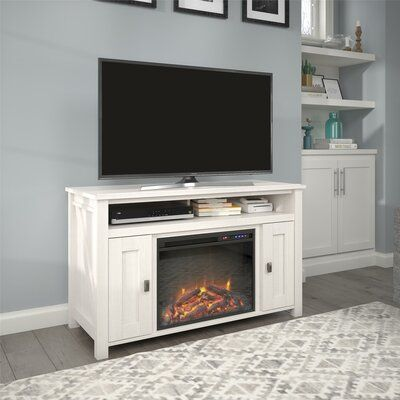 Mistana Whittier Tv Stand For Tvs Up To 50 With Electric Fireplace Included Fireplace Tv Stand Electric Fireplace Fireplace Console