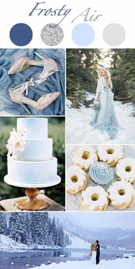 Frosty Air Winter Wedding Colors Wedding Theme Colors