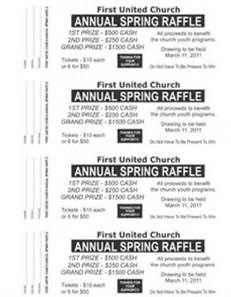 fundraiser ticket template